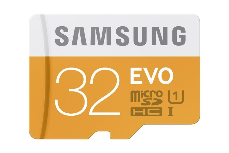 Samsung Evo 32GB microSDHC memory card