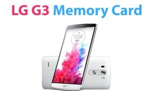 LG G3 Memory Card