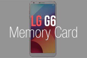 LG G6 Memory Card