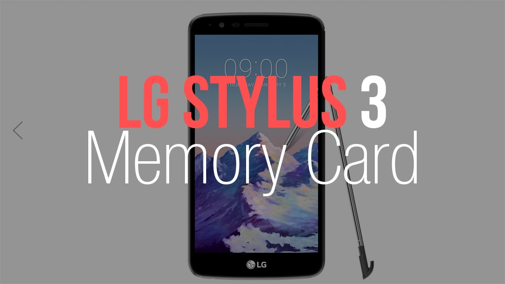LG Stylus 3 Memory Card