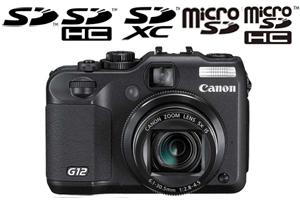 Canon Powershot G12 Memory Card